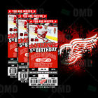 Detroit Red Wings Ticket Style Custom Sports Party Invitations $35.0 USD on eBay