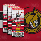 Ottawa Senators Ticket Style Sports Party Invites
