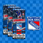 New York Rangers Ticket Style Sports Party Invites $45.0 USD on eBay