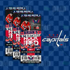 Washington Capitals Ticket Style Sports Party Invites $25.0 USD on eBay