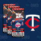Minnesota Twins Ticket Style Sports Party Invites