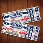 Classic New York Mets Ticket Style Sports Party Invitations on Ebay