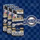 Milwaukee Brewers Ticket Style Sports Party Invites on Ebay