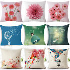 18'' Dandelion & Daisy Cotton Linen Pillow Case Sofa Cushion Cover Home Decor