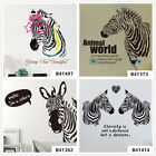 Pretty zebra Animal Home Bedroom Decor Removable Wall Stickers Decals Decoration