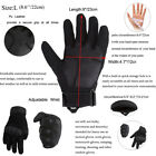 Motorcycle Riding Gloves Men Outdoor Tactical Bike Protective Pu Leather Black