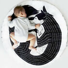 New Kids Round Cartoon Carpet Gym Rug Baby Infant Play Room Crawling Mat