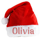 Personalised SANTA CLAUS Hat Luxury Crystal Christmas hat eve Party Xmas Festive