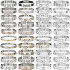 2017 Women Men Gold/Silver Plated Stainless Steel Wristband Bangle Bracelet