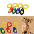 1x Portable Aid Wrist Strap Pet Dog Click Training Obedience Trainer Clicker New