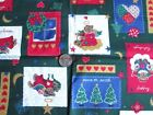 Christmas Holiday Bears Patches Angels Hearts Craft Quilt Fabric Traditions f930