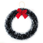 Christmas Decoration Pine Garland Wreath With Red Bow  Hanging Door Wall Decor