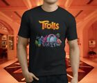 New Popular Trolls Cartoon Movie Funny Men's Black T-Shirt Size S-3XL image