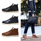 1X Homme Chaussure Bottines Bottes Cuir Fourrure Hiver Chaud Sneakers Neige Neuf