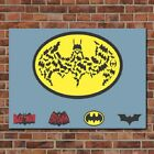 Batman Variation With Times Painting Print on Canvas Home Decor Wall Art Poster