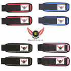 BooM Pro WRIST WRAPS HEAVY DUTY POWERLIFTING BODYBUILDING GYM BAR SUPPORT STRAPS