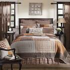 5PC RORY COUNTRY PRIMITIVE CABIN QUILT SHAMS PILLOW CASES BED SET VHC BRANDS