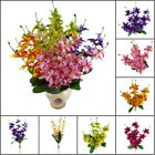 Fragrance Orchid Fake Artificial Flowers Orchid Silk Flower Simulation 5 Petals