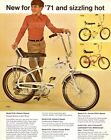 "BICYCLE 1971 Deluxe 5-Speed NEW FOR '71 SIZZLING HOT = POSTER 7 SIZES 19"" - 36"""