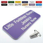 COMBI CLIP & PIN Custom ID Engraved personalized Name Badges for Work Office