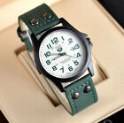Men's Leather Band Watches 4 Colors Military Analog Quartz Date Sport WristWatch image