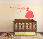 Princess stars wall sticker Personalised any name kids art DECAL DECOR