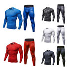 Men's Workout Compression Set  Running Jogging Training Athletic Pants T-Shirts