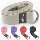 D-Ring Cotton Yoga Stretch Strap Training Belt Leg Fitness Exercise Gym Stretch