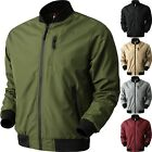 Внешний вид - Mens BOMBER Windbreaker JACKET Tech Lightweight Waterproof Hip Hop Casual