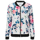 Fashion Casual Slim Solid Suit Blazer Coat Jacket Outwear Women Floral Print