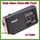 New Korjo Small Beside Table Travel Alarm Snooze Clock with Night Light Torch AU