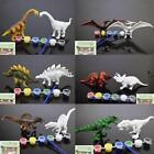 Plastic Handcraft Painted Model Pen Color DIY Drawing 3D Kids Dinosaur Toys