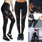 UK Womens Sports Gym Yoga Running Fitness Leggings Pants Athletic Mesh Trousers