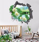 3D Lake Flowers 213 Wall Murals Wall Stickers Decal Breakthrough WALLPAPER AU