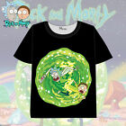 Rick and Morty  popular Anime Casual Short Sleeve 3D T-Shirts Tee Tops new