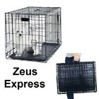 Portable Travel Dog Crate Folding Cat metal Cage 24-48 Inch S -XLarge Easy Clean