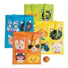 """SILLY CAT FACES 15"""" x 17"""" POLYESTER TOTE BagS NOVELTY SCHOOL BOOKS GROCERY TOYS"""