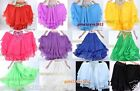 Hot! New Beautiful 3 Layers Belly Dance Skirt 14 Colors Available Free Shipping