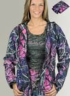 Muddy Girl Camo | Womens Pink Purple Camouflage Windbreaker Jacket w/ Can Koozie