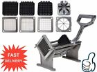 LOT Commercial Heavy Duty Potato French Fry Cutter Fruit Slicer w/ Blades FG