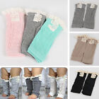 Внешний вид - Toddler Kids Baby Girl Crochet Knitted Lace Boots Cuffs Toppers Leg Warmer Socks