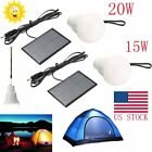 20W Solar Powered LED Rechargeable Bulb Light Outdoor Camping Yard Lamp US STOCK
