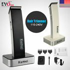 razors electric - KEMEI Men Cordless Electric Rechargeable Hair Clipper Trimmer Beard Shaver Razor