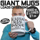 Giant 2 Litre Funny Mugs 2000ml Novelty Mug Perfect Birthday fathers day gifts