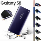 Samsung Galaxy S7 S8+ Note 8 Clear View Mirror Leather Flip Stand Case Cover HOT