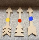 MDF wooden Arrows Pack of 1 or 3 (18mm choice of lengths 20cm or 30cm)