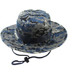 Male Men Cotton Bucket Hat Boonie Hunting Fishing Outdoor Cap Washed W/ STRINGS
