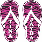 Custom Name Zebra Print Flip Flops Car Truck Window Laptop V