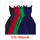 US Ladies Summer Casual Sleeveless Party Evening Cocktail Short Mini Tutu Dress