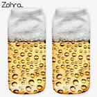 Beer 3D Graphic Full Printing Sock Women Meias Ankle Socks Cotton Hosiery Socks